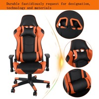 (Ship From UK) Ergonomic Gaming Chair Home Office High Back Computer Chair With Headrest Lumbar Support Racing Gaming Chair