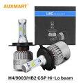 Auxmart S3 H4/9003/HB2 72 Вт LED Conversion Kit 6500 К 8000LM Автомобиля фар Лампы Все-в-одном Привет-Ло луч Зпп Лампа 12 В 24 В CSP чипы