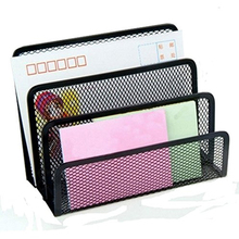 Buy business letter organizer and get free shipping on aliexpress 1pcs 3 section mesh letter note paper business card collection holder sorter desk organizer black colourmoves