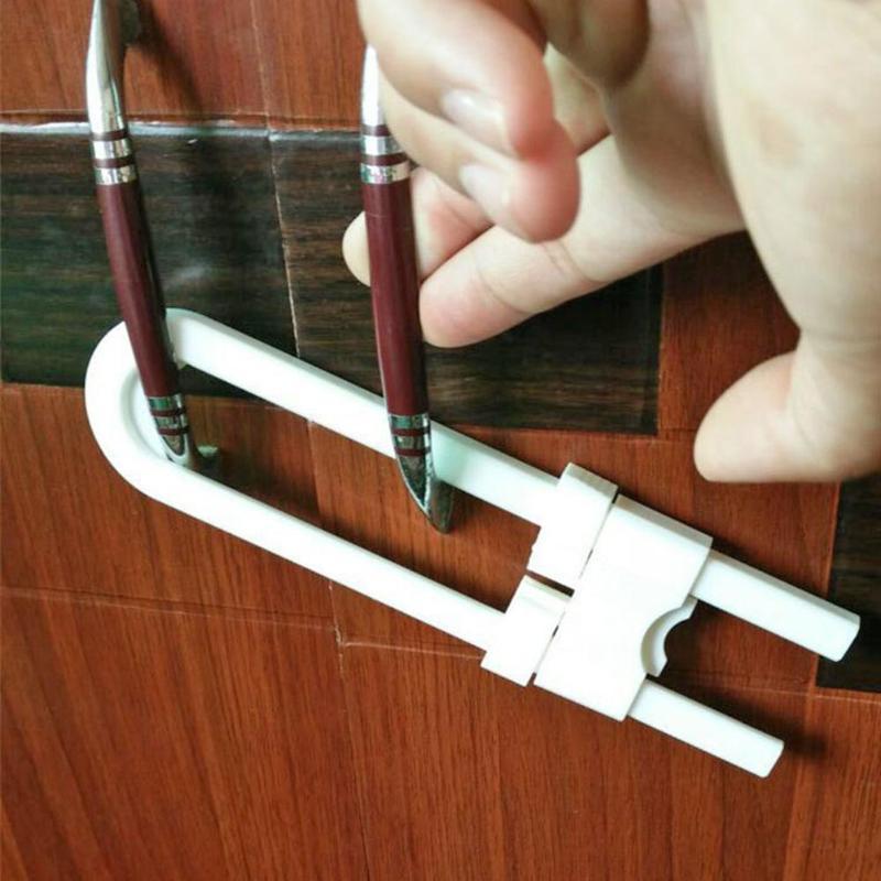 1 Set U-shaped Lock Child Safety Cabinet Closet Door Latches For Baby Safe
