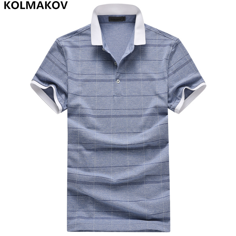 KOLMAKOV New Fashion Men   Polo   Shirt Brands Solid Color Camisas   Polo   Masculina Elastic Summer Short Sleeve Poloshirt Sportwear