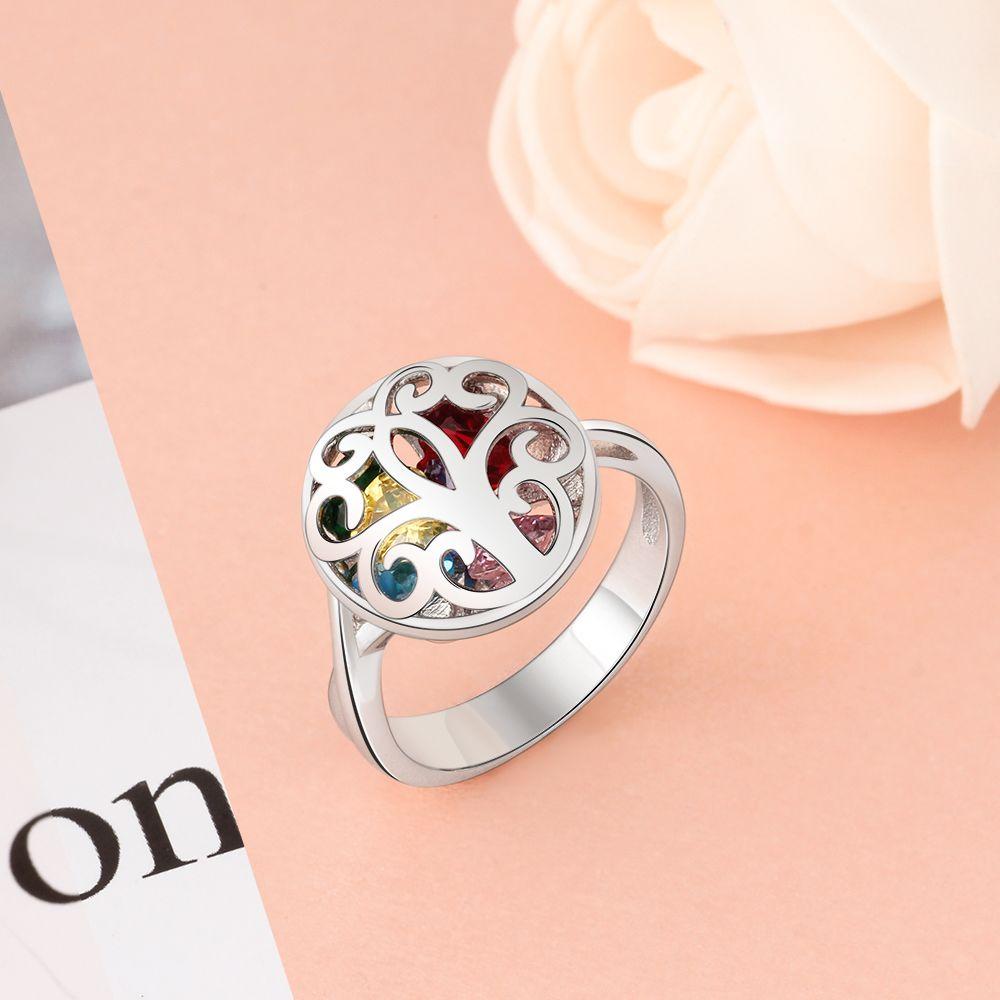خاتم فضة بالاحجار الكريمة 4