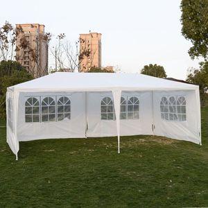 Goplus открытый навес 10 'X20 ', вечерние свадебные палатки, садовые патио, Gazebo, павильон, обслуживающие мероприятия, 4 боковины AP2067WH
