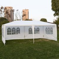 Goplus Outdoor 10 'X20 'Canopy Party Wedding Tent Garden Patio Gazebo Pavilion Cater Events 4 Sidewall AP2067WH