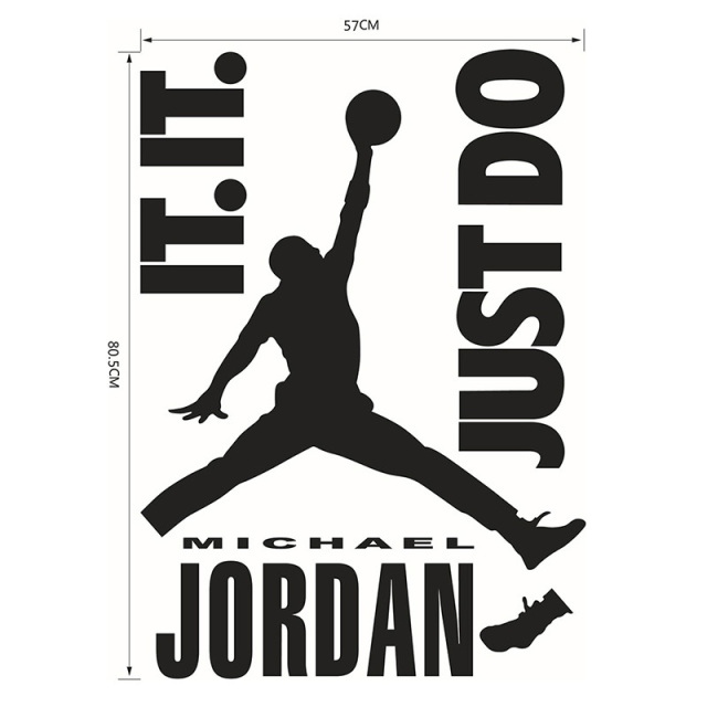 Michael jordan play basketball quotes just do it vinyl wall stickers for kids boy room diy