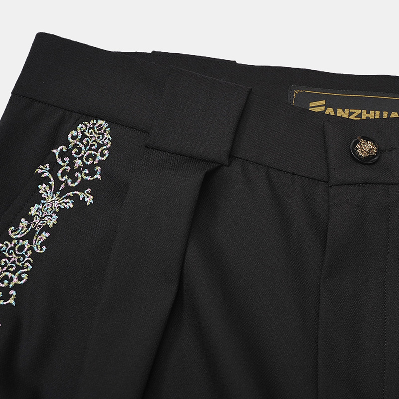 Fanzhuan Free Shipping Fashion Casual Male Men's New Spring Embroidered Slim Haren Harem Solid Simple Saggy Pants 618001