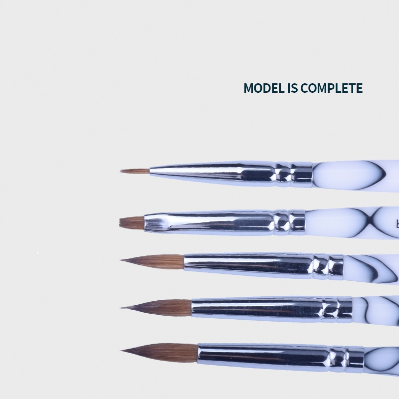5pcs High Quality Dental Lab Porcelain Ceramic Finest Sable Ermine Brush Pen Set Tool Dental Lab Porcelain Applying Pen