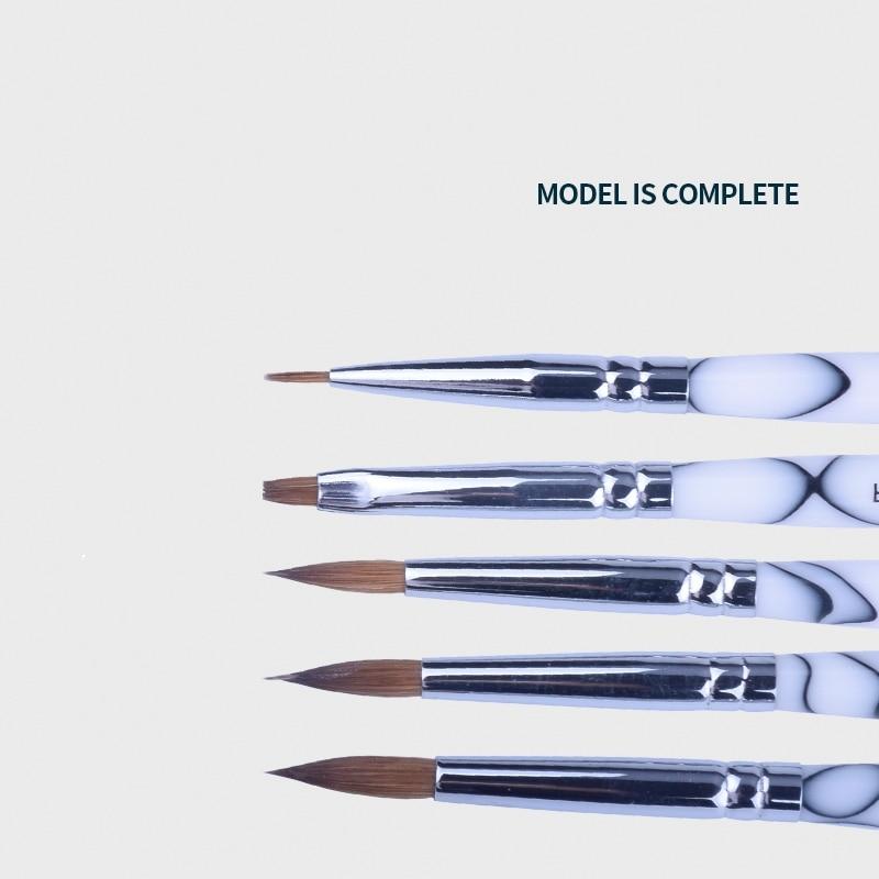 5pcs High Quality Dental Lab Porcelain Ceramic Finest Sable Ermine Brush Pen Set Tool Dental Lab Porcelain Applying Pen