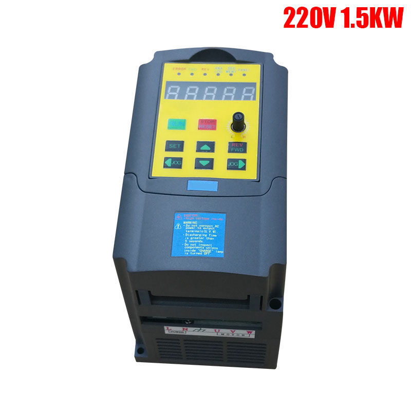 Variable Frequency Drive VFD Inverter 1.5KW 2HP 220V 7A 1.5kw inverter with Potentiometer Knob 220V AC inverters converters new variable frequency drive vfd inverter 1 5kw 2hp 220v 7a 1 5kw inverter with potentiometer knob 220v ac