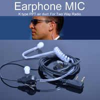 Écouteur Micro Casque pour Baofeng UV-5r BF-888s UV-82 GT-3 Radio Talkie Walkie Microphone Air Acoustique Tube 2 Broches PPT Accessoires