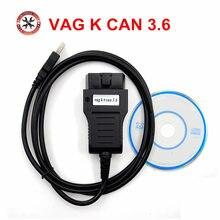Диагностический инструмент VAG 3,6, VAG K + CAN COMMANDER 3,6 OBDII OBD2, диагностический кабель K CAN, считыватели кодов и инструменты для сканирования, коррекц...