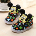 2017 Hot brand high quality shoes baby Cool LED lighted colorful girls boys shoes hot sales casual Lovely baby sneakers 21-30