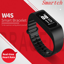 Smartch SmartBand смарт-браслет W4S сердечного ритма Приборы для измерения артериального давления измерение калорий, Шагомер Спорт браслет для iOS андроид Фо
