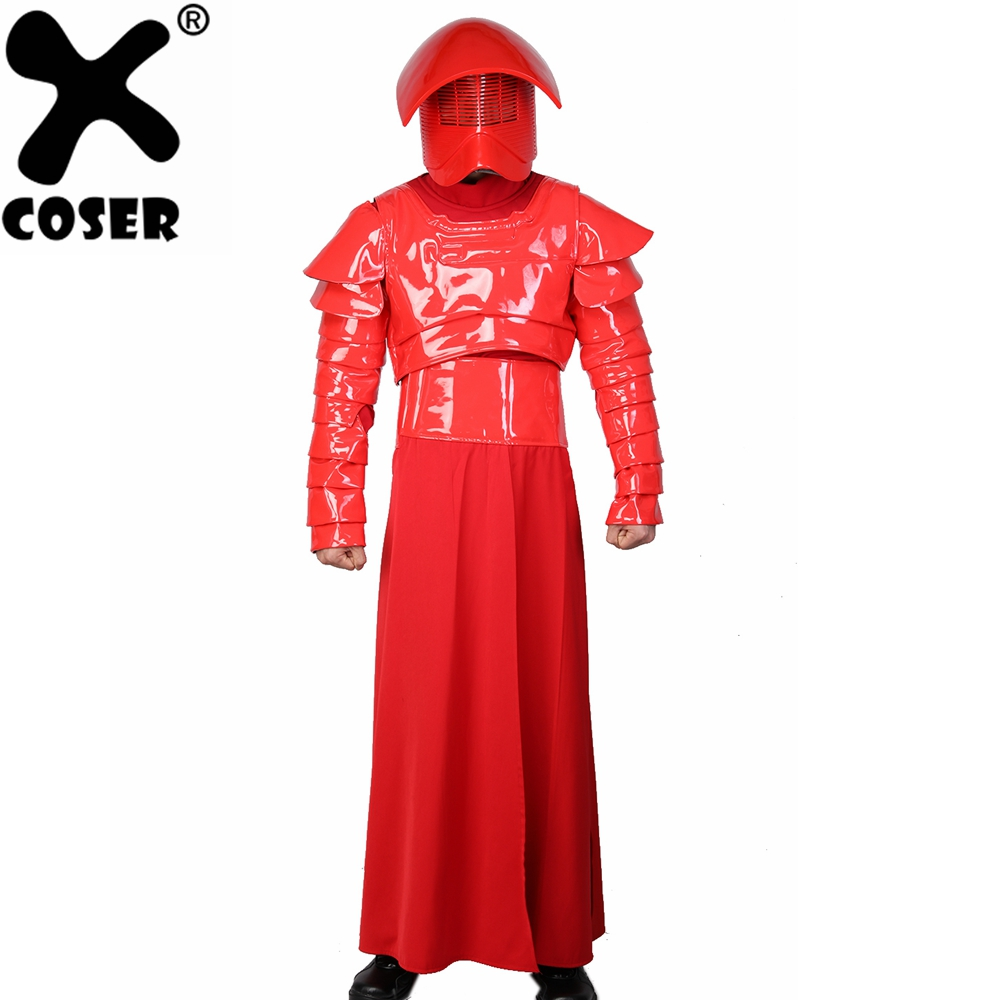 XCOSER Star Wars Episode VIII: The Last Jedi Cosplay Elite Praetorian Guard Full Set Halloween Cosplay Costume For Men Adult