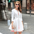 Trench coat 2017 british style slim coat female medium-long autumn trench coat for women white/black free shipping size s-xxl