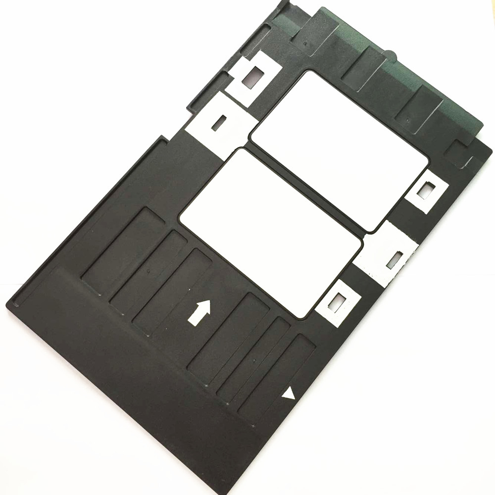 10PCS INKJET Printable Blank PVC Plastic ID Card + 1PCS PVC ID Card Tray for Epson R260 L800 R270 R280 R290 R380 R390 RX680 T50 mooncase чехол