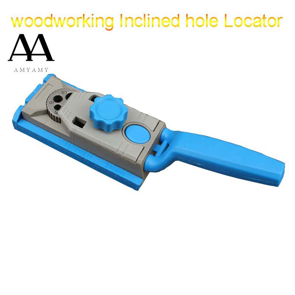 Woodworking Pocket Hole Jig System Inclined hole drilling Locator drill guider tool drill vertical hole bit set wood tools woodworking tool pocket hole jig woodwork guide repair carpenter kit system with toggle clamp and step drilling bit k527