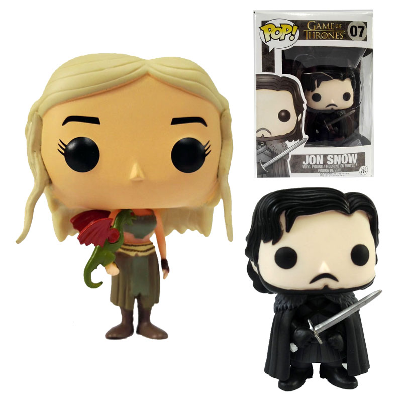 <font><b>Funko</b></font> <font><b>POP</b></font> <font><b>Game</b></font> <font><b>of</b></font> <font><b>Thrones</b></font> <font><b>Jon</b></font> <font><b>Snow</b></font> Daenerys Targaryen Vinyl <font><b>Action</b></font> Figure PVC 10cm Model toys gift collections for children
