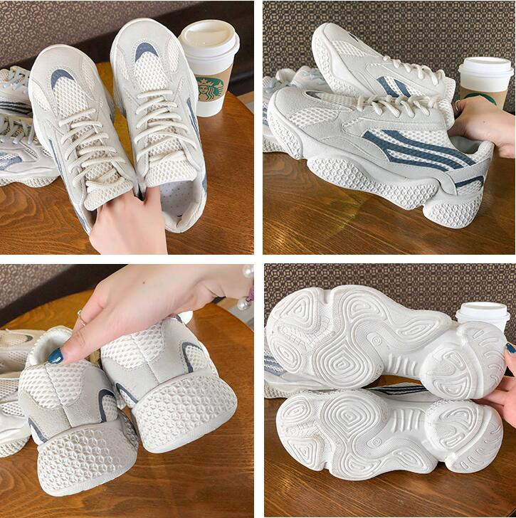 YeddaMavis Casual Running Shoes Daddy Shoes Women Shoes Spring New Thick Bottom Mesh Lace Up Womens Shoes Women Sneakers Woman in Women 39 s Vulcanize Shoes from Shoes