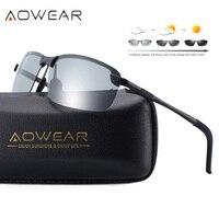 Aowear hd chameleons 선글라스 남성용 편광 포토 크로 믹 안경 카멜레온 남성용 야간 운전 sun glasses oculos gafas|lentes de sol|de solchameleon sunglasses -