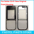 For Nokia c2-01 Mobile Phone New original Front Housing For C2-01 C2 cell phone Replacement face Cover case + with track