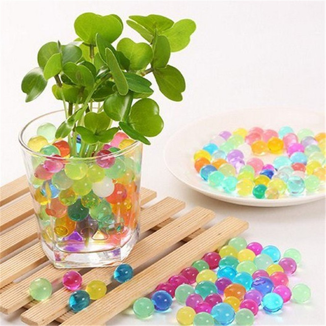 1000pcs Magic Crystal Soil Multi Colored Gel Bal Water Beads Jelly