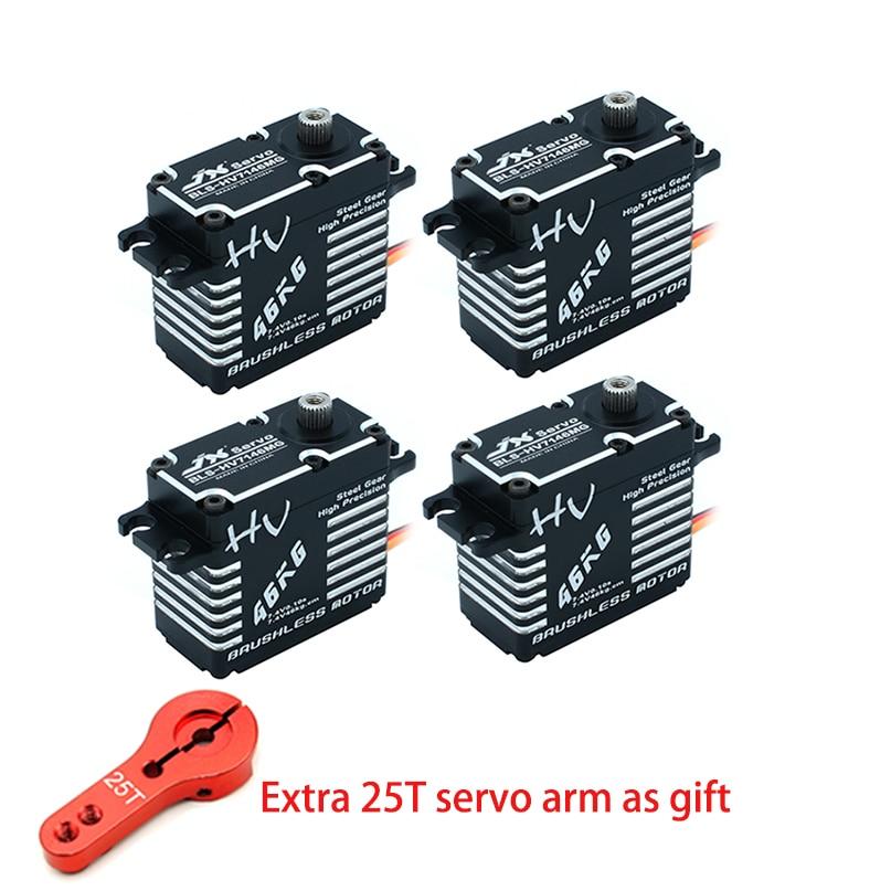JX BLS HV7146MG Wasserdicht Servo 46KG Bürstenlosen Standard 8,4 V 0.1sec Stahl Gang Voller CNC Aluminium für 1/5 RC hubschrauber roboter-in Teile & Zubehör aus Spielzeug und Hobbys bei  Gruppe 1