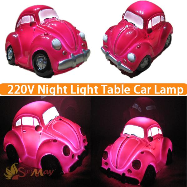 Pink Color Car Modeling Night Lamp Home Energy Saving LED Table lamp Sleeping Light luminarias Decor Lamp,Great Gift For Kids table decor color change best gift led night light