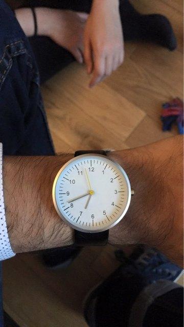 Relojes de Diseño minimalista Japonés Movimiento de Cuarzo Correa de Cuero Genuino