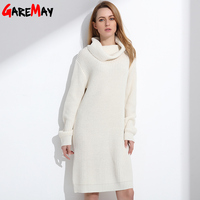 Women Long Sweater Turtleneck Young Ladies Fashion Autumn Winter Retro Pullover Thick Knit Sweater For Women