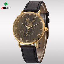 Relojes Hombre 2017 Antique Horse Watch Business Wristwatch Waterproof Horloges Mannen Quartz Watch Brand Luxury Glod