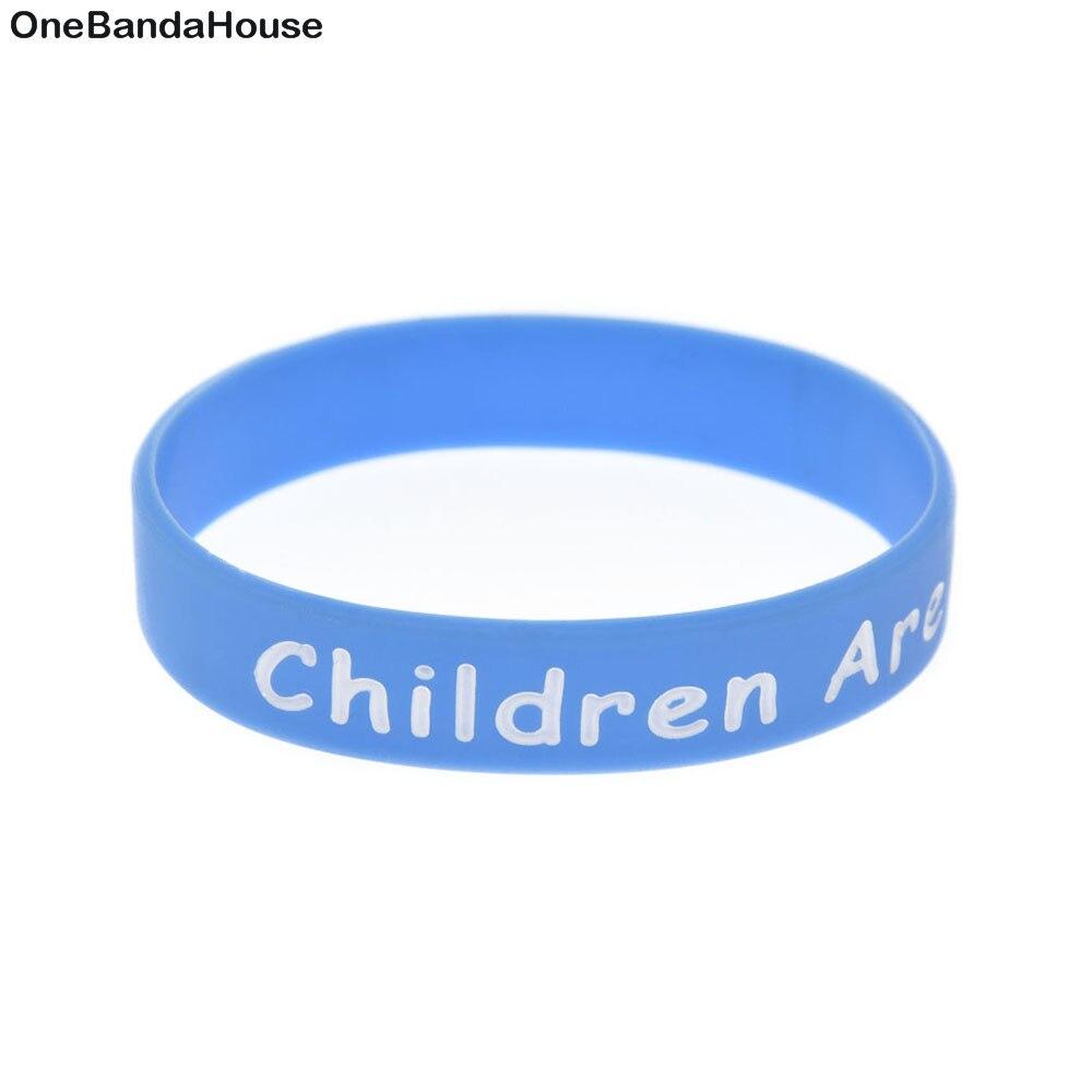 OneBandaHouse 1PC Children are Kind Silicone Wristband Boy & Girls Gift Bracelet