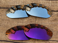 Chrome Silver & Purple 2 Pairs Mirror Polarized Replacement Lenses For Monster Dog Sunglasses Frame 100% UVA & UVB Protection