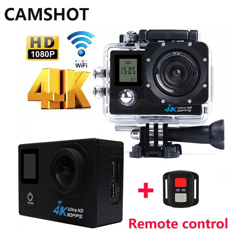 CAMSHOT Action Camera Outdoor Waterproof 4K Remote control Double Screen Diving Bicycle cam Wifi Sport Cameras Deportiva Helmet