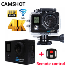 CAMSHOT Action Camera Outdoor Waterproof 4K Remote control Double Screen Diving Bicycle cam Wifi Sport Cameras Deportiva Helmet