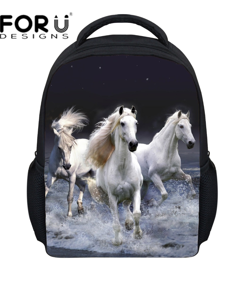 Small 3D Animals Backpack Children School Bags for Girls and Boys,Dinosaur Printing Backpack Kids, Crazy Horse Bagpack Mochila
