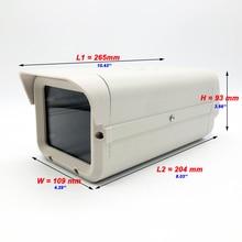 OwlCat מקורה טלוויזיה במעגל סגור אבטחת מעקב מצלמה דיור אלומיניום ABS מצלמה להגן על בית אפור לבן 204*109*93MM