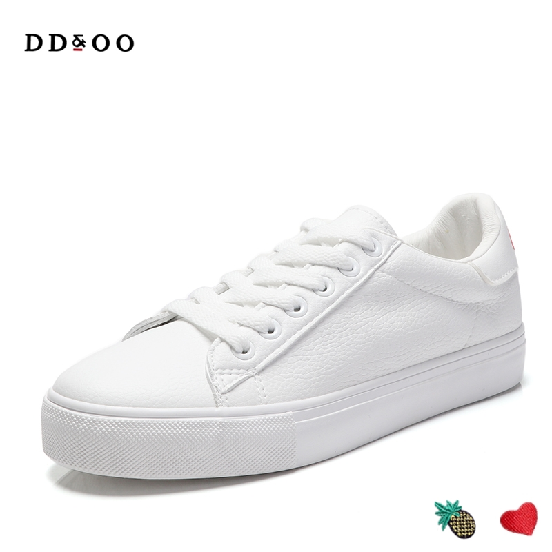 2017 new fashion women shoes flats casual sport breathable PU leather heart pineapple winter shoes platform