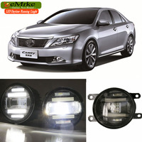 eeMrke Xenon White High Power 2in1 LED DRL Projector Fog Lamp With Lens For Toyota Camry 2011 up