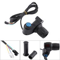 1 Set Electric Bicycle Half Turn Handle With Lock Power Display LED Indicator Lock Key Knock Half Twist Switch Handle Accessory|Electric Bicycle Accessories| |  -