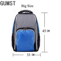 GUMST Large Capacity Thermal Insulated Cooler Bag Black Food Storage Bags Insulation Picnic Thermo Lunch Bag for Women Men