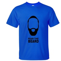 2016 New Clothing Fear The Beard Harden High Quality Cotton Printed T Shirt Men Women T