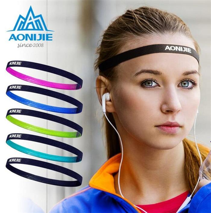 AONIJIE Men Women Sports 1 pc Hair Bands Sports Headband Anti-slip Elastic Rubber Sweatband Football Yoga