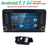 Quad Core 2 Din Android 7 1 Car GPS Navigation For Audi A3 2003 2011 Stereo