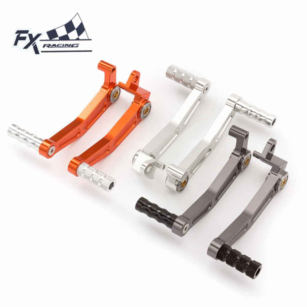 FX CNC Aluminum Motorcycles Gear Shifter Foot Pedal Brake Clutch Levers For KTM DUKE 125 200 390 RC125 RC200 RC390 2013 - 2014 bjmoto cnc aluminum blade adjustable brake clutch levers set for ktm duke 390 2013 2018 duke 200 125 rc 125 200 390 2014 2018