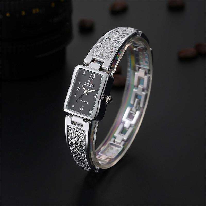 2017 New SOXY Brand Women Fashion Bracelet Watch Luxury Gold/silver Quartz Watch Women Dress Watches Ladies Watch Relogio Femini