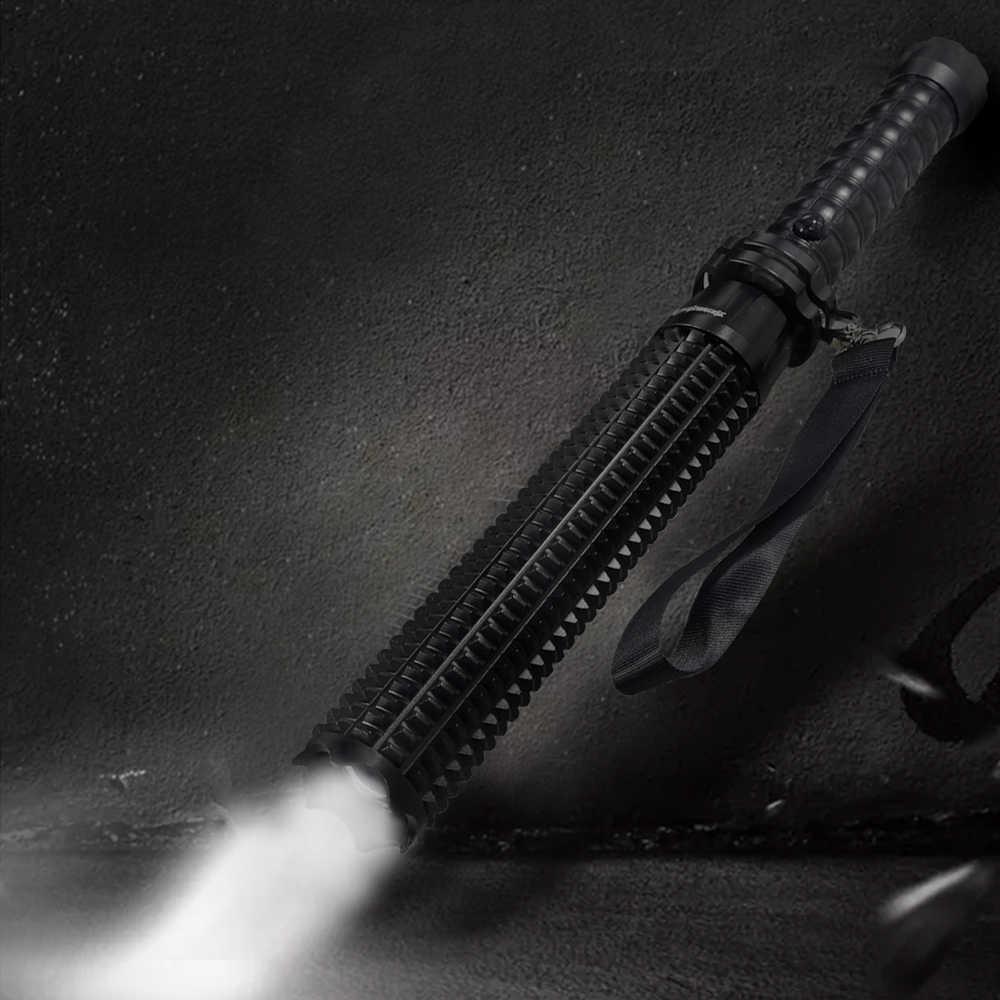 テレスコピックバトン自己防衛懐中電灯 XPE LED 防水 Led ランタン警察パトロールスティック個人的な自己防衛のキャンプ