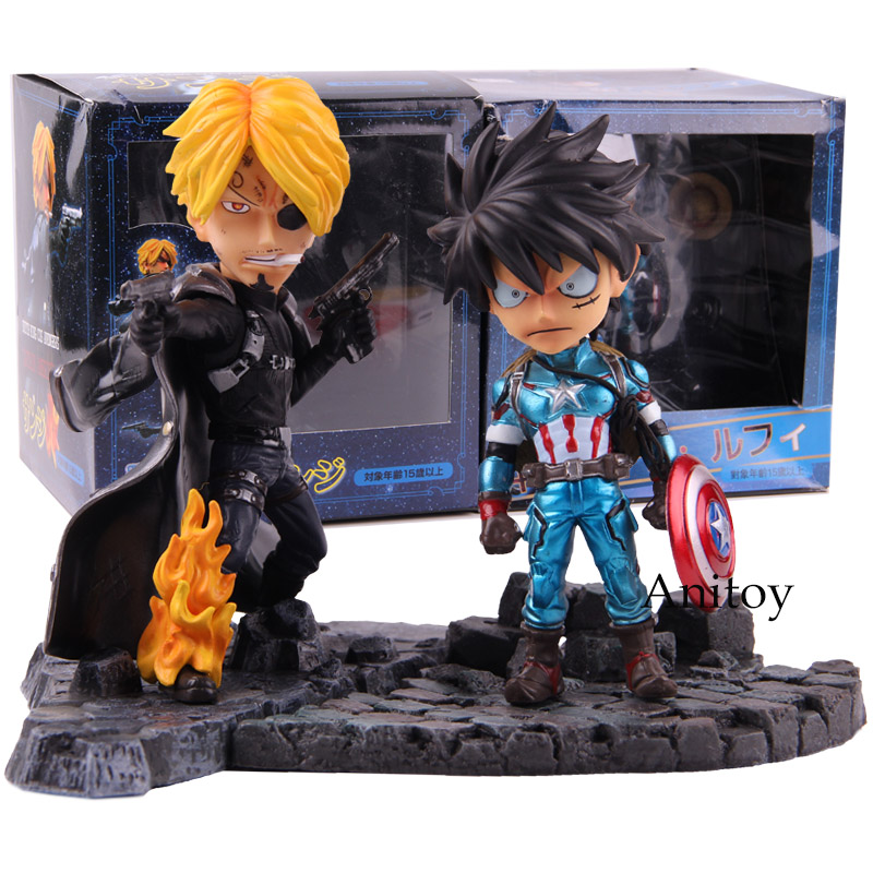 Snitch King Cos Avengers One Piece Sanji Cosplay Nick Fury Luffy Cosplay Captain America Action Figure PVC Collectible Model Toy