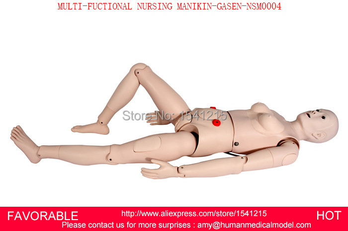 NASOGASTRIC FEEDING & TRACHEAL INTUBATION  SIMULATOR, FEMALE NURSING MANIKIN,MULTI-FUCTIONAL NURSING MANIKIN-GASEN-NSM0004 economic basic patient care manikin female nursing manikin nursing mannequin