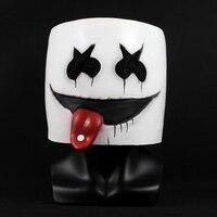 New DJ Marshmello Mask Cute DJ Marshmello Nightclub Helmelt Latex Masks Concert Christmas Halloween Carnival Party Prop Dropship